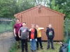 Plaistow Fish and Game shed staining and brush cleanup 2016